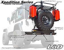 LoD Xpedition Series Bumper Tire Carrier