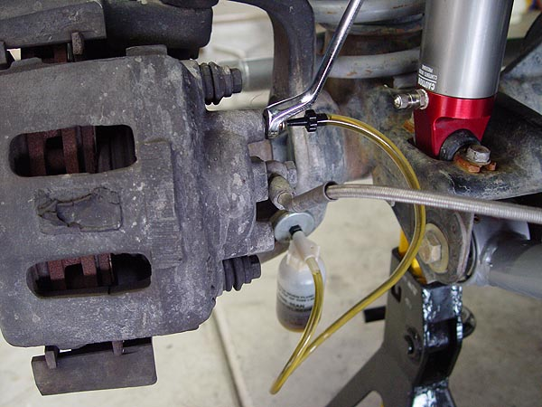 How Do You Bleed Brakes >> Jeep TJ Front Disc Brake Pads and Rotor Replacement