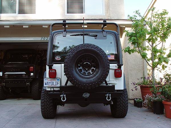 homemade jeep cb antenna mount tire carrier