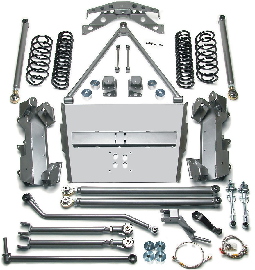 Full Traction Suspension Long Arm Lift Kit Jeep Tj