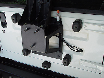 Jeep Tj Tire Carrier On Tailgate And Larger Spare